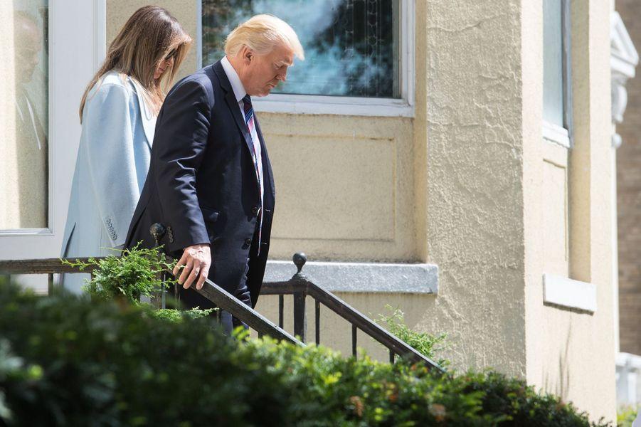 Melania et Donald Trump à Washington, le 3 septembre 2017.