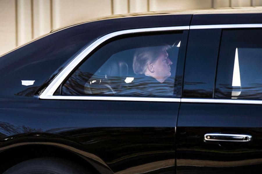 Donald Trump quittant la Maison-Blanche, le 8 novembre 2018.