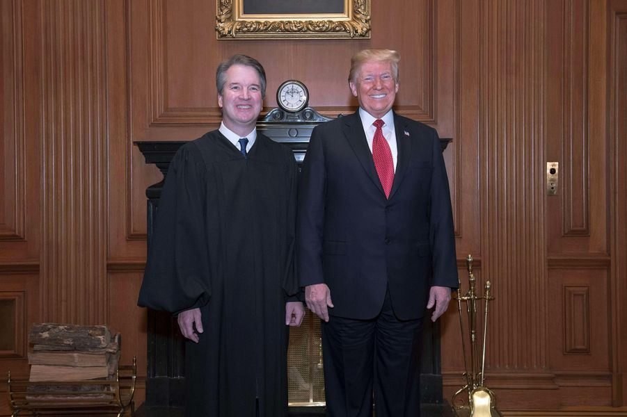 Brett Kavanaugh et Donald Trump, le 8 novembre 2018.