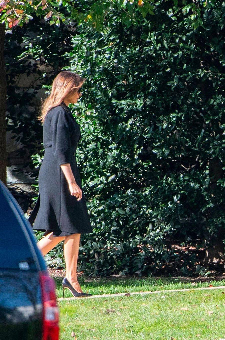 Melania Trump de retour à la Maison-Blanche, le 8 novembre 2018.