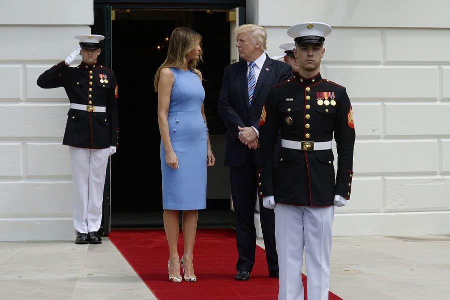 Melania et Donald Trump à la Maison Blanche, le 19 juin 2017.