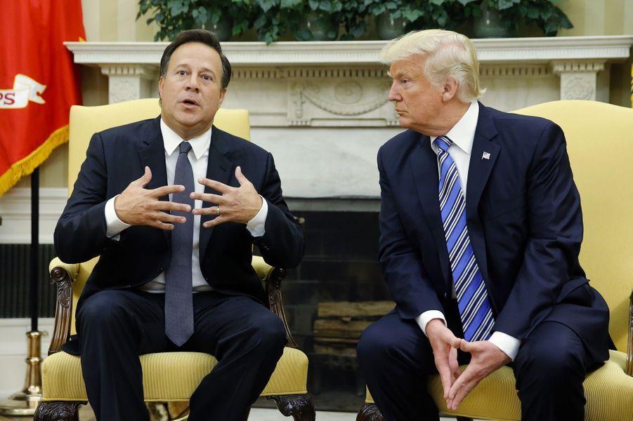 Juan Carlos Varela et Donald Trump dans le Bureau ovale, le 19 juin 2017.