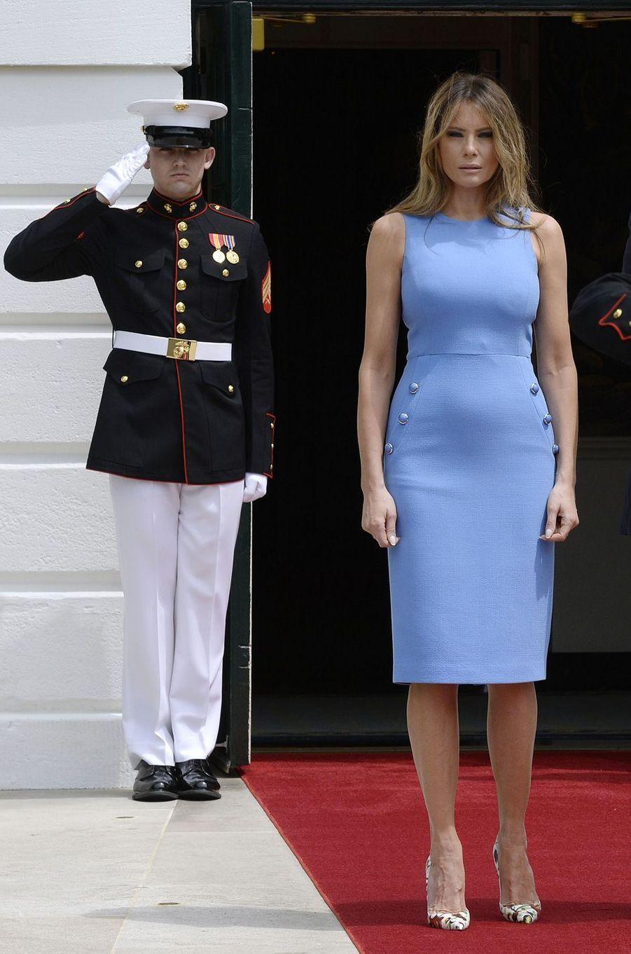 Melania Trump à la Maison Blanche, le 19 juin 2017.