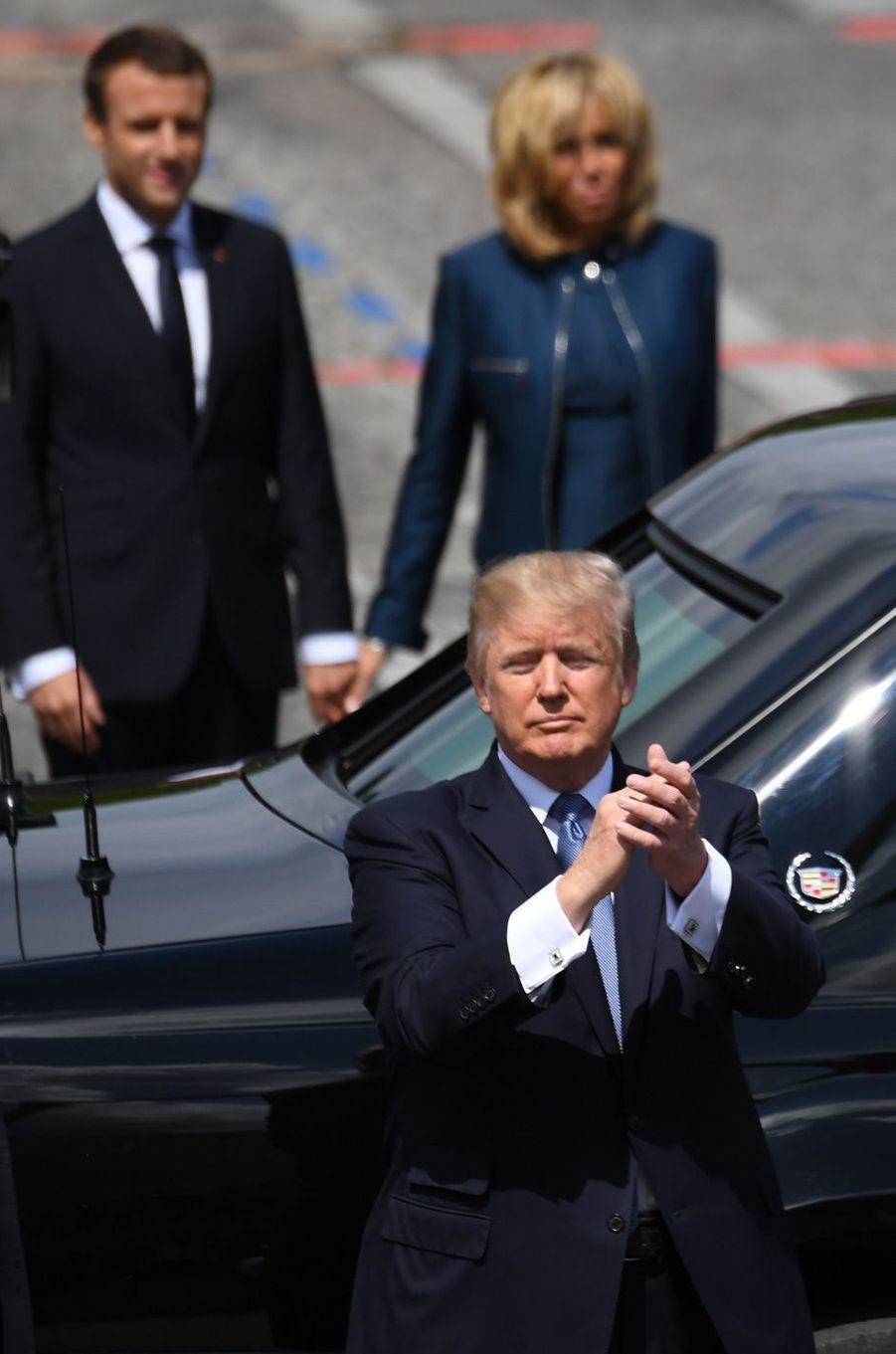Donald Trump à Paris, le 14 juillet 2017.