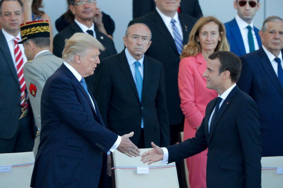 Emmanuel Macron et Donald Trump à Paris, le 14 juillet 2017.