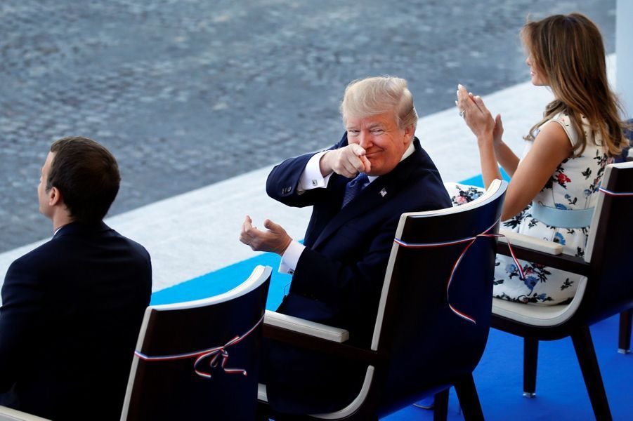 Donald Trump à Paris, le 14 juillet 2017.