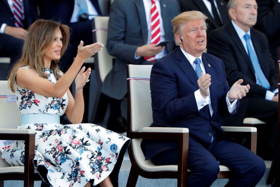 Melania et Donald Trump à Paris, le 14 juillet 2017.