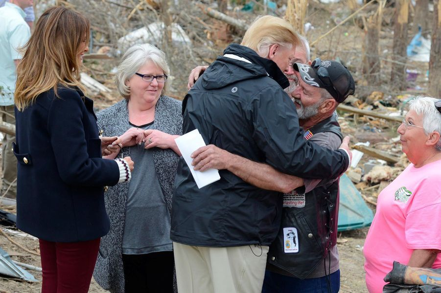 Donald et Melania Trump à Beauregard, dans l'Alabama, le 8 mars 2019.
