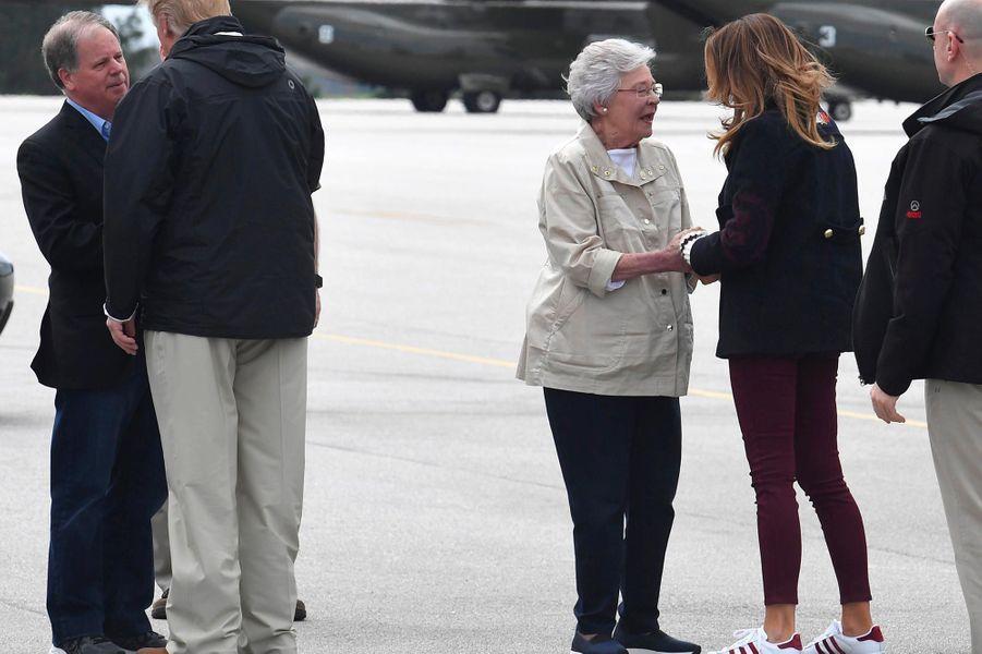 Donald et Melania Trump à leur arrivée dans l'Alabama, le 8 mars 2019.
