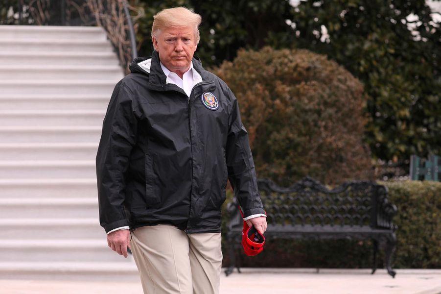 Donald Trump avant de quitter la Maison-Blanche, le 8 mars 2019.