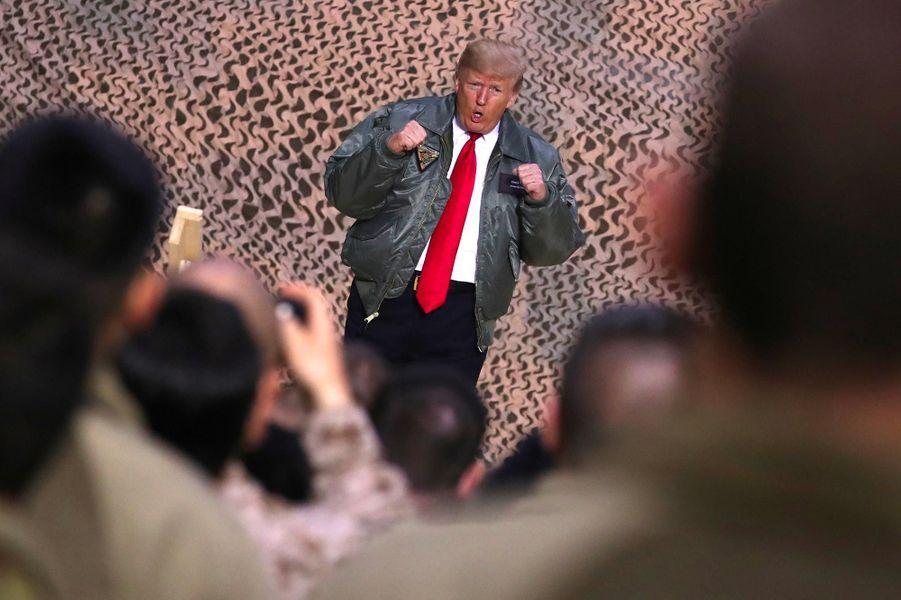 Donald Trump sur la base aérienne Al-Asad, en Irak, le 26 décembre 2018.