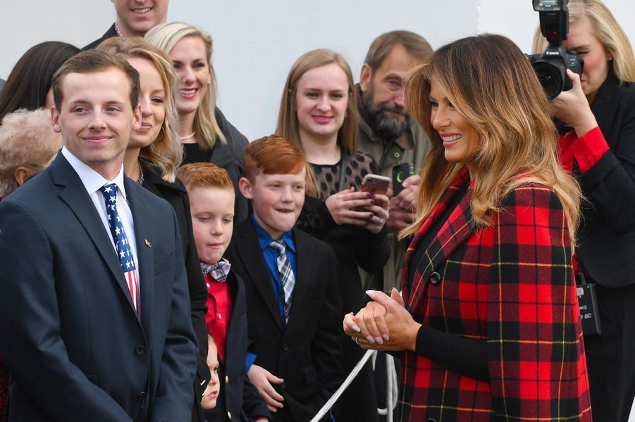 Donald et Melania Trump à la Maison-Blanche, le 19 novembre 2018.