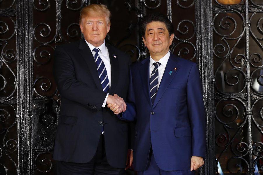Donald Trump et Shinzo Abe à Mar-a-Lago, le 17 avril 2018.