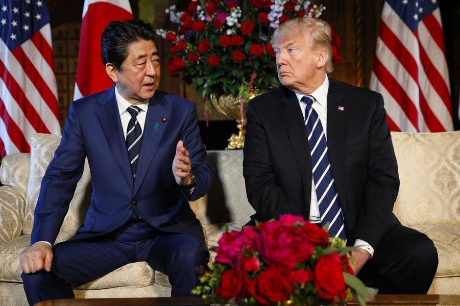 Shinzo Abe et Donald Trump à Mar-a-Lago, le 17 avril 2018.