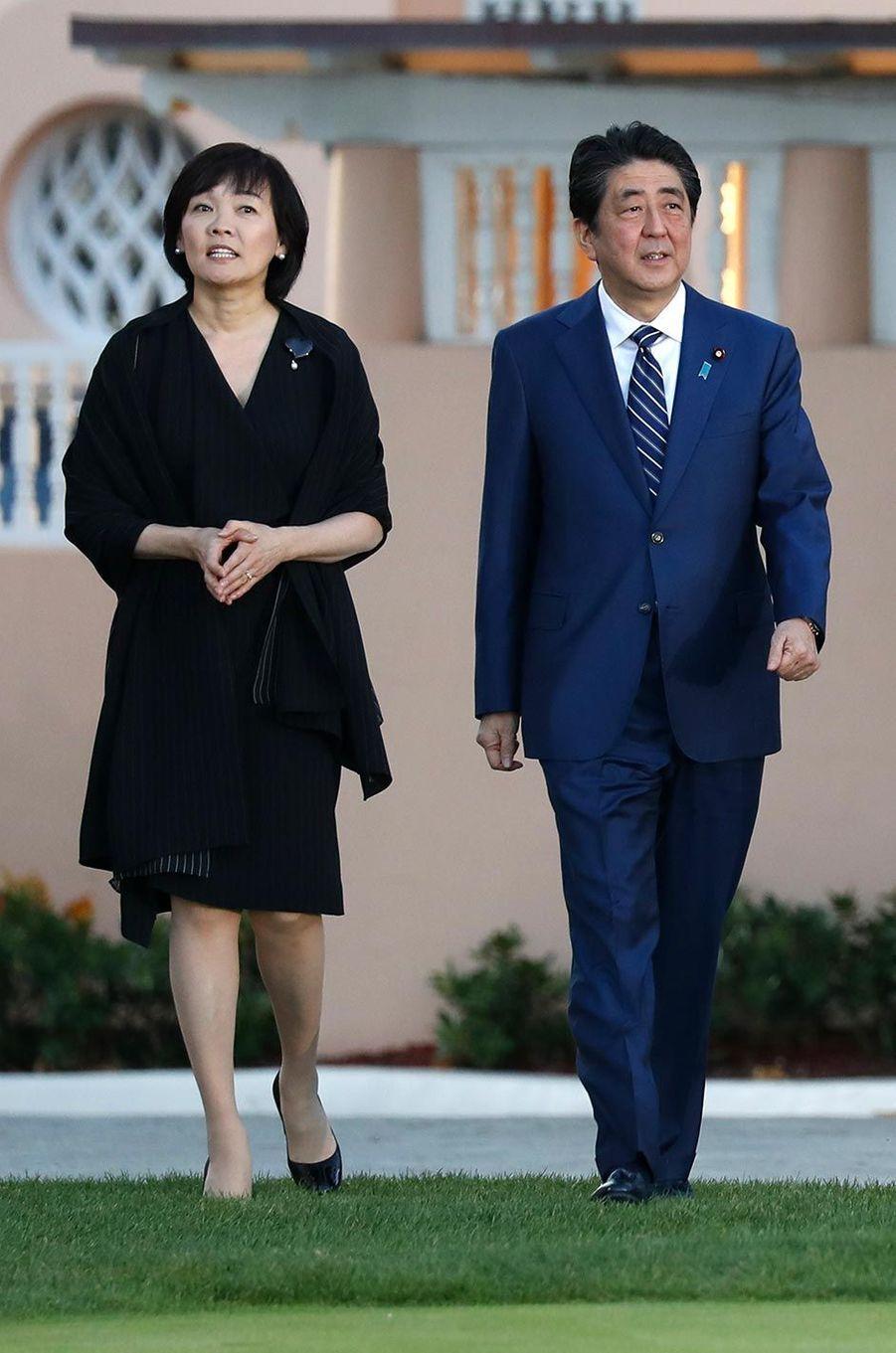 Akie et Shinzo Abe à Mar-a-Lago, le 17 avril 2018.