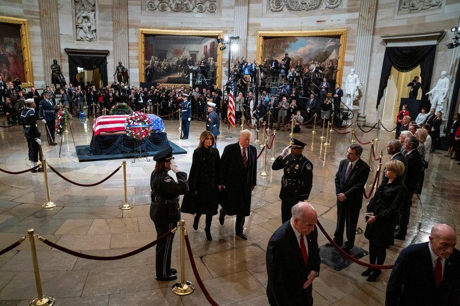 Donald et Melania Trump au Capitole, le 3 décembre 2018.