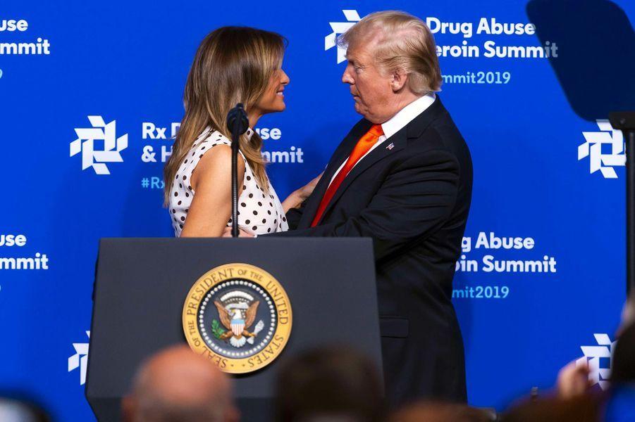 Melania et Donald Trump à Atlanta, en Géorgie, le 24 avril 2019.