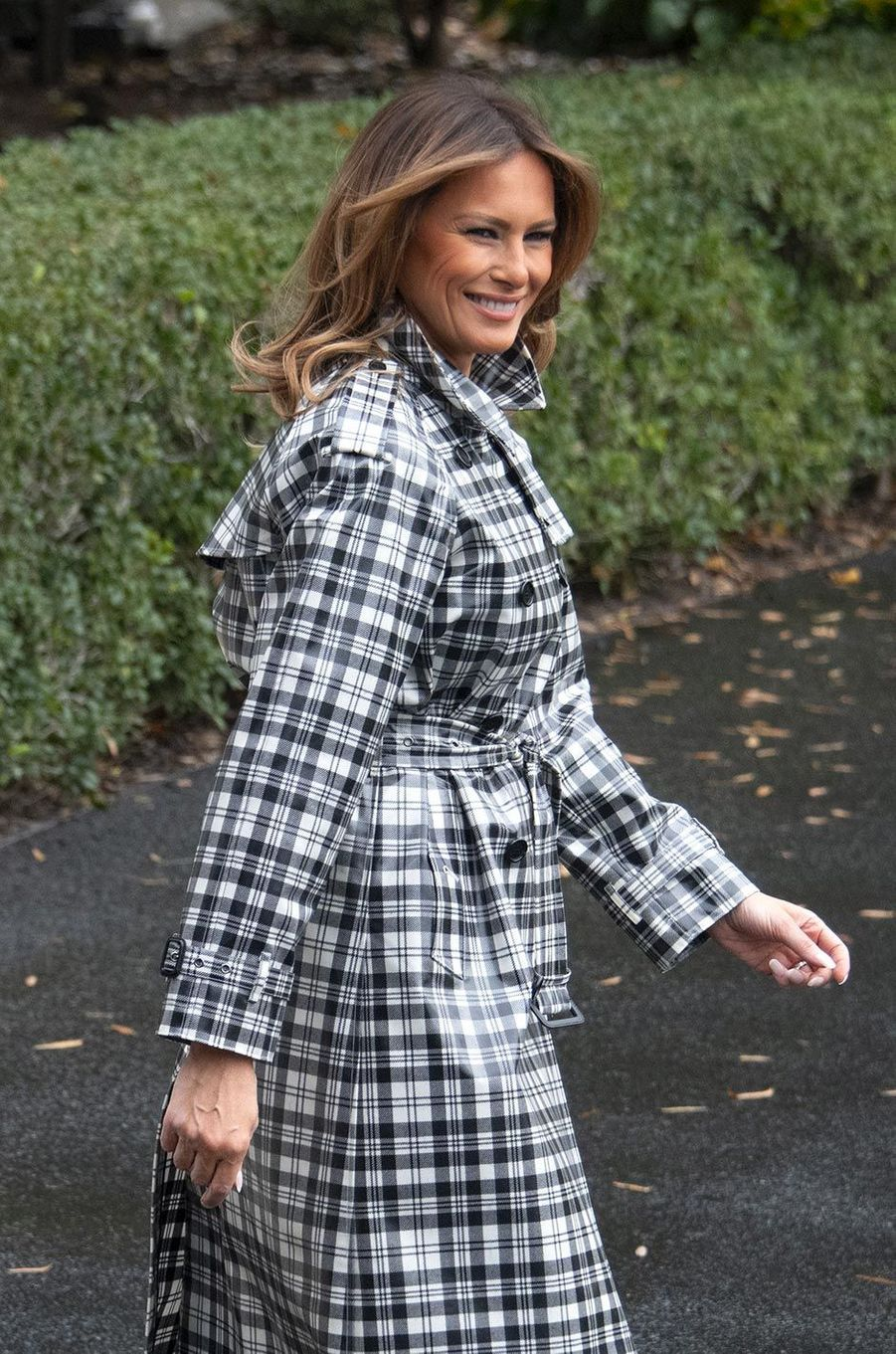 Melania Trump quittant la Maison-Blanche, le 9 novembre 2018.