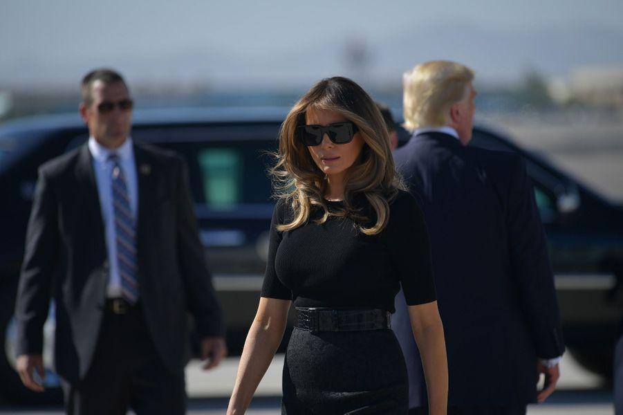 Donald et Melania Trump arrivant à Las Vegas, le 4 octobre 2017.