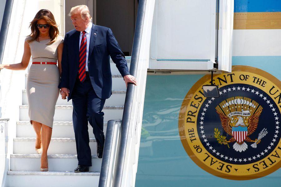 Donald et Melania Trump sont arrivés à Londres, le 12 juillet 2018.