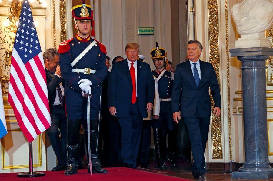 Donald Trump et Mauricio Macri à Buenos Aires, le 30 novembre 2018.