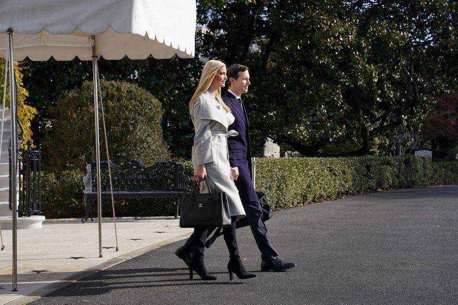 Ivanka Trump et Jared Kushner quittant la Maison-Blanche, le 29 novembre 2018.
