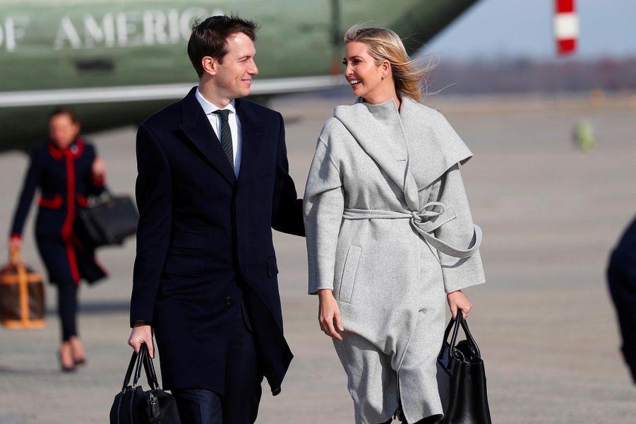 Ivanka Trump et Jared Kushner avant de monter à bord d'Air Force One, le 29 novembre 2018.