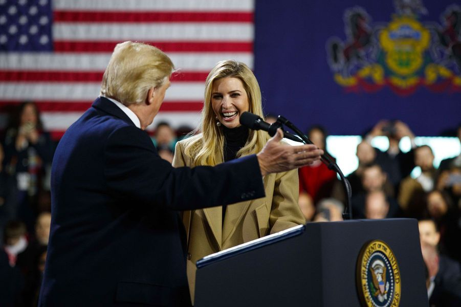 Donald et Ivanka Trump en Pennsylvanie, le 18 janvier 2018.