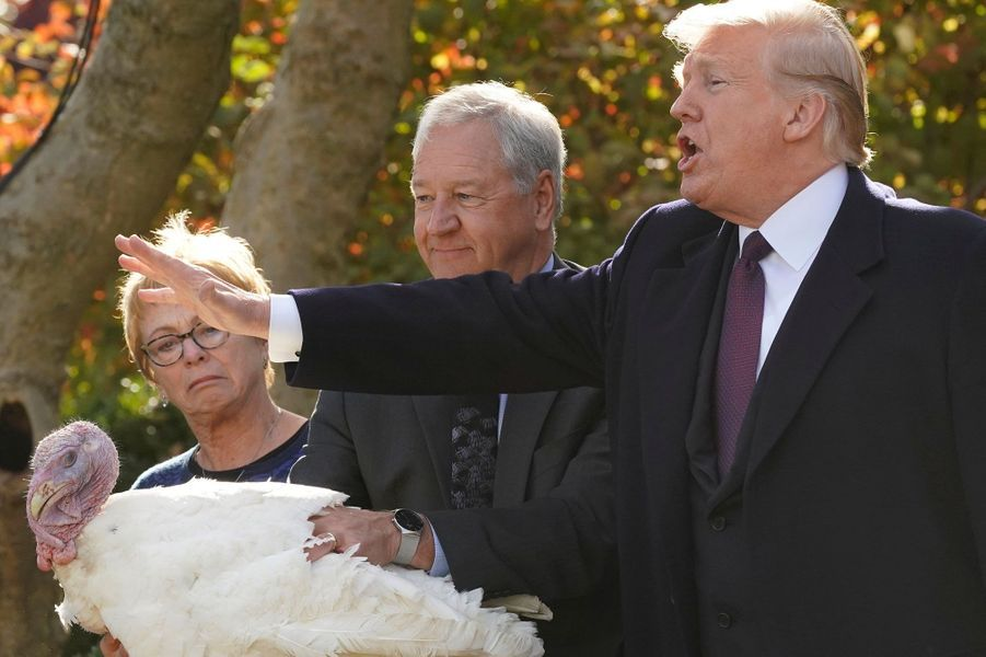 Donald Trump a gracié deux dindes avant Thanksgiving