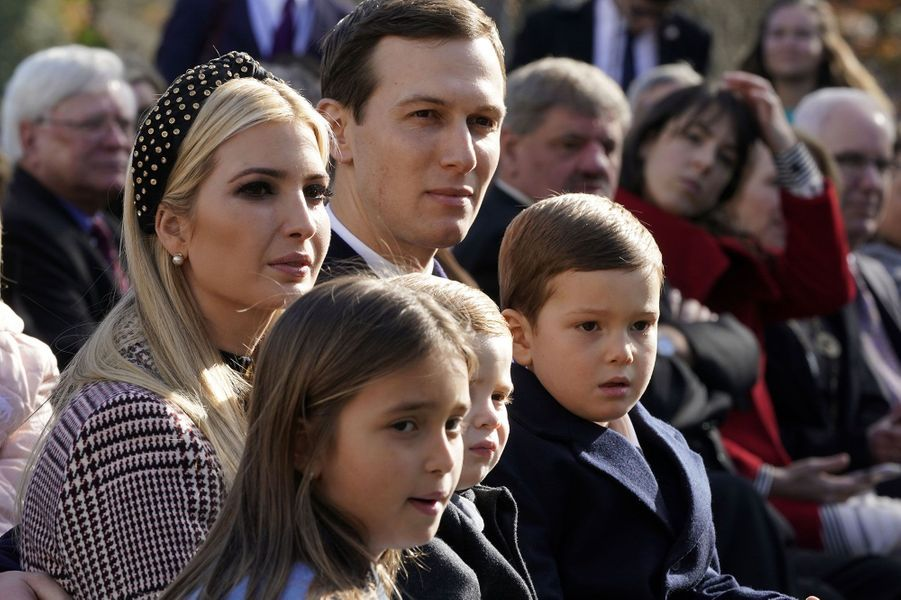 Ivanka Trump et ses trois enfants Joseph, Arabella et Theodore et son mari Jared Kushner