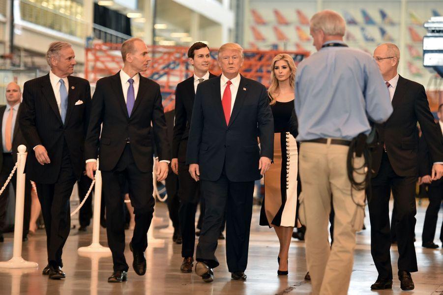 Jared Kushner et Ivanka Trumplors d'un déplacement présidentiel en Caroline du Sud, le 17 février 2017.