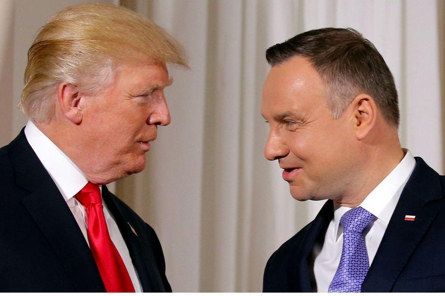 Donald Trump et le président polonaisAndrzej Duda, le 6 juillet 2017.