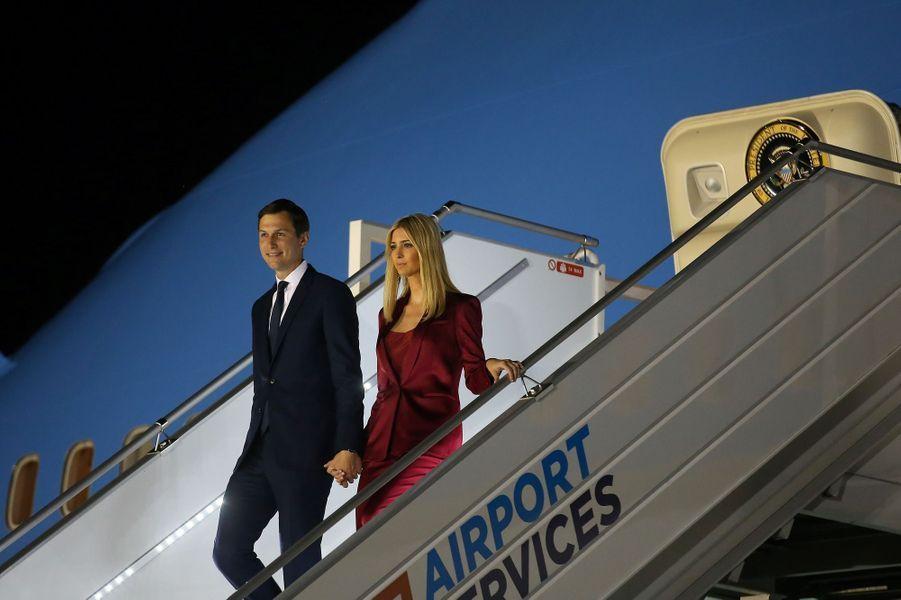 Ivanka Trump et Jared Kushner à leur arrivée à Varsovie, le 5 juillet 2017.