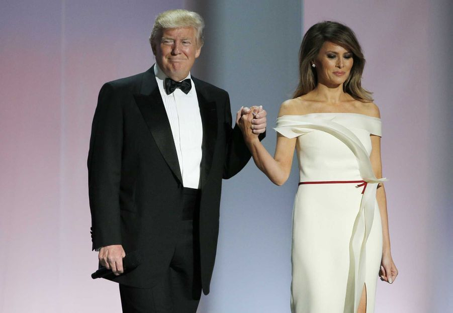 Arrivée de Donald Trump et Melania Trump au Liberty Ball, vendredi soir à Washington.