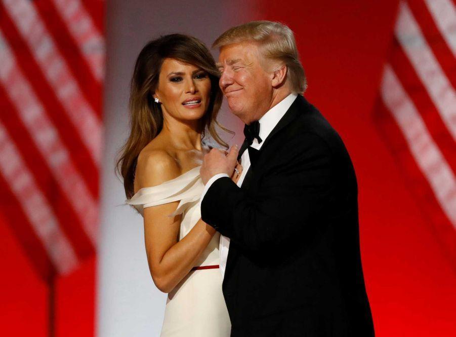 Donald Trump et Melania lors du Freedom Ball, vendredi soir à Washington.