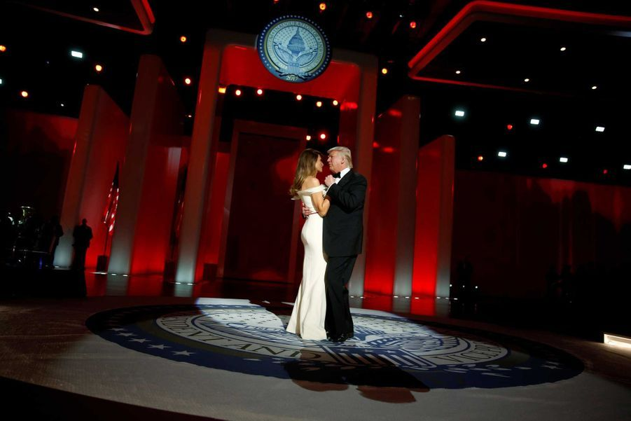 Donald Trump et Melania lors du Liberty Ball, vendredi soir à Washington.
