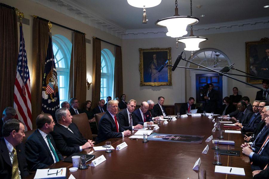 Donald Trump à la Maison-Blanche, le 2 janvier 2019.
