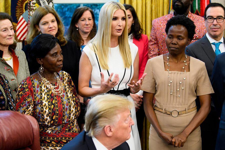 Donald et Ivanka Trump à la Maison-Blanche, le 7 février 2019.