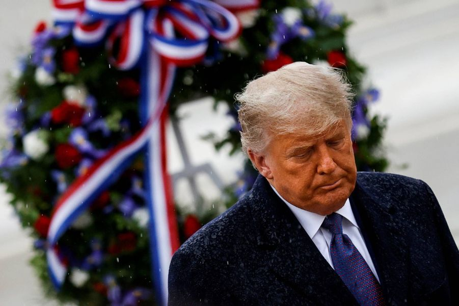 Donald Trump au cimetière national d'Arlington, le 11 novembre 2020.