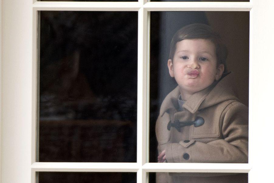 Joseph, le fils d'Ivanka Trump et Jared Kushner, à la Maison Blanche le 17 février 2017.