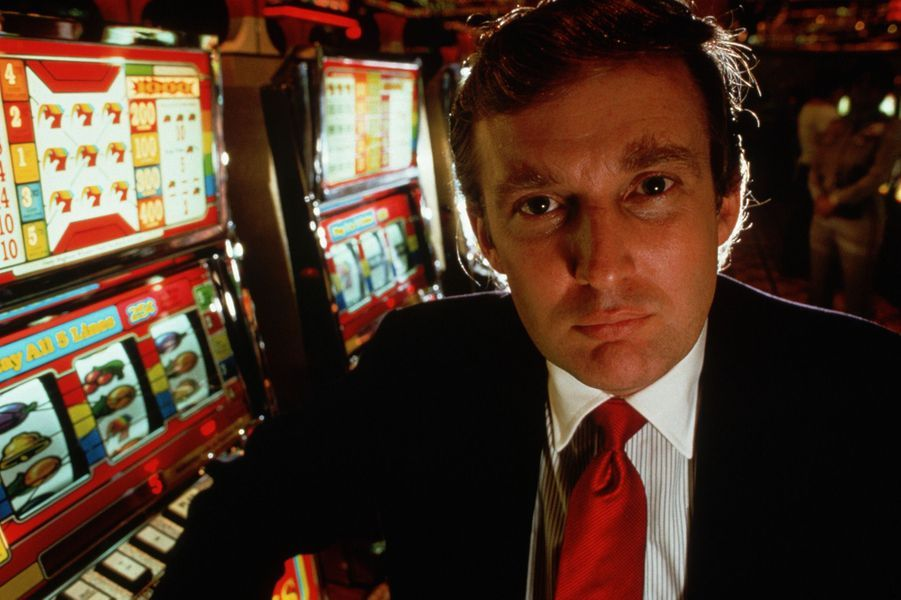 Donald Trump à l'ouverture de son casino le Taj Mahal à Atlantic City, en 1989.