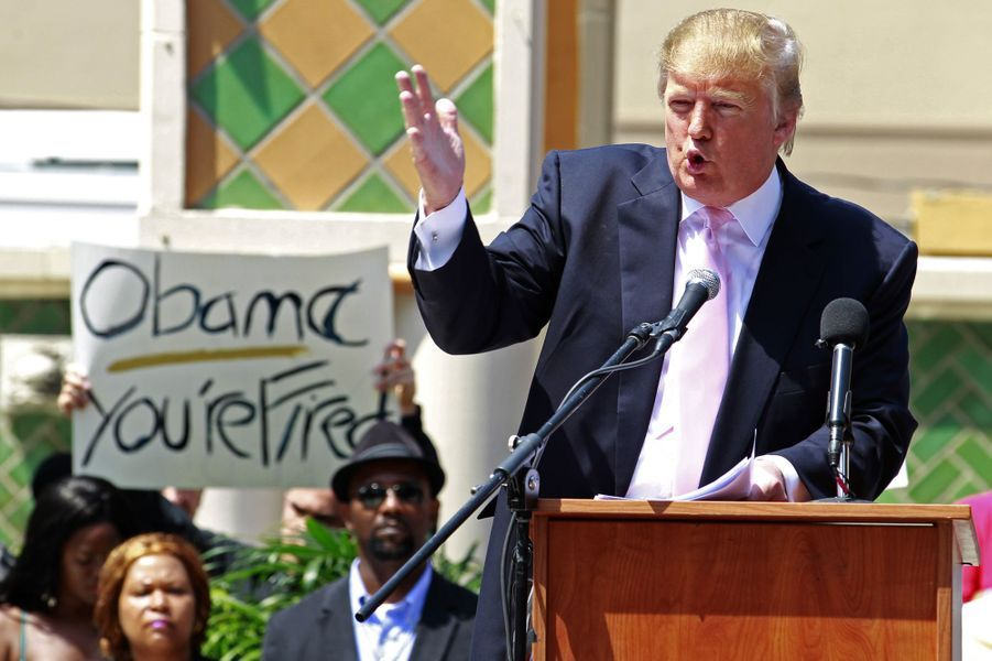 Donald Trump à un rassemblement du Tea Party en Floride, en avril 2011.