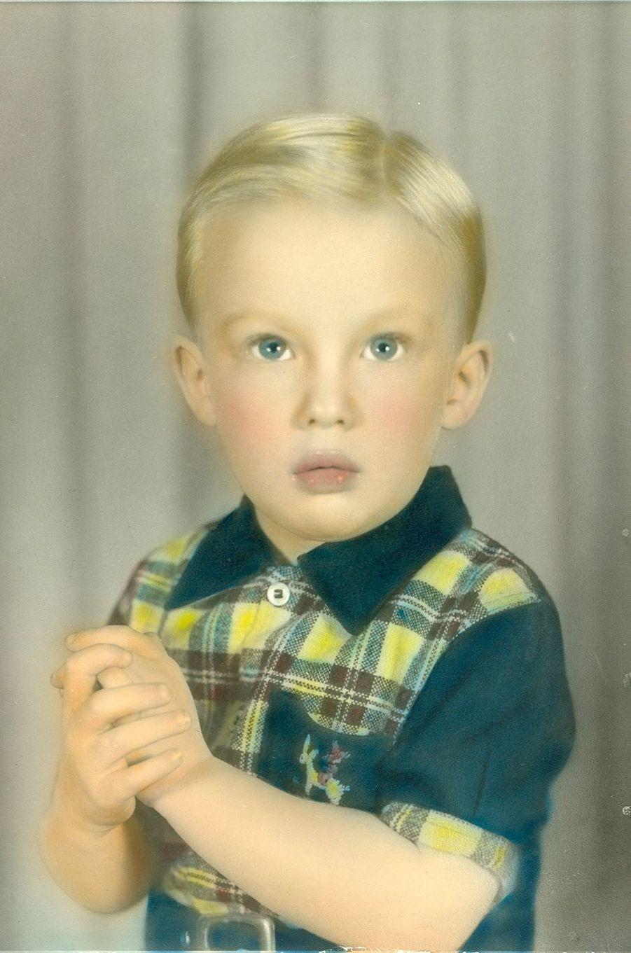 Donald Trump enfant (photo partagée sur sa page Facebook).