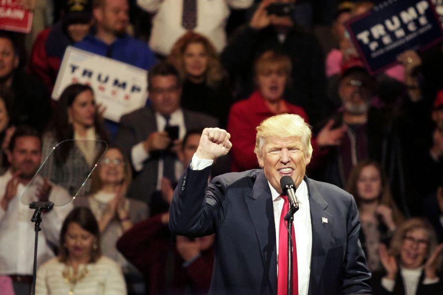 Donald Trump en meeting de remerciements àCincinnati, dans l'Ohio, le 1er décembre.