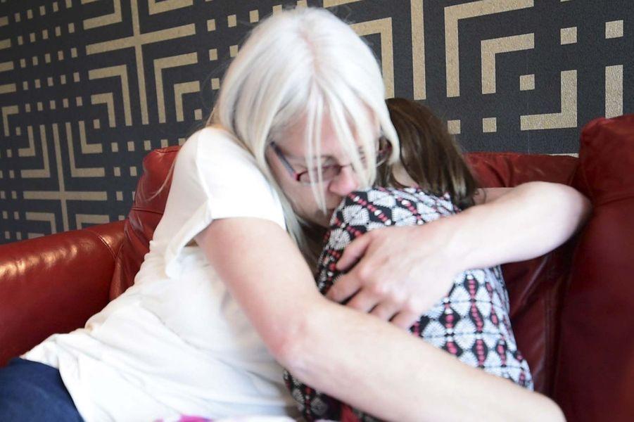 Debbie Stoner et Nellie-Mai, la fillette qui a reçu le coeur de sa fille décédée.