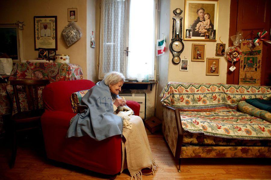 Emma Morano, la dernière personne née avant 1900, en novembre 2016.