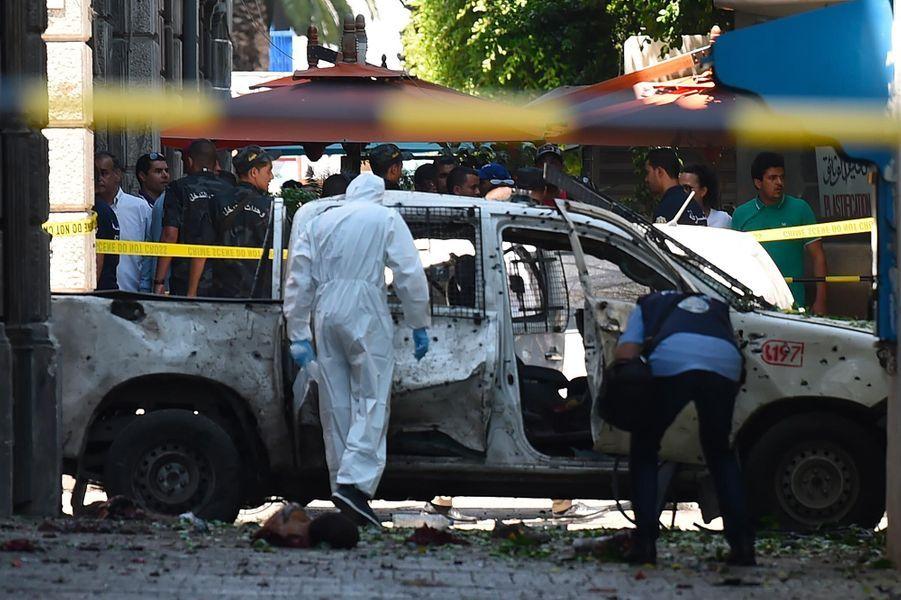 Un policier de 25 ans a été tué dans l'attentat commis jeudi à Tunis, le 27 juin 2019.