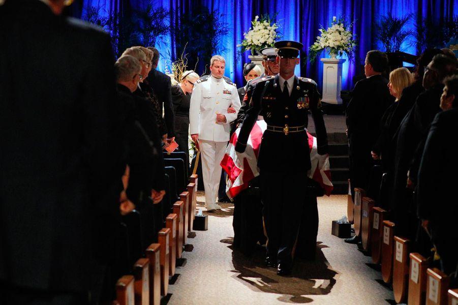 A l'hommage rendu à John McCain à Phoenix, le 30 août 2018.