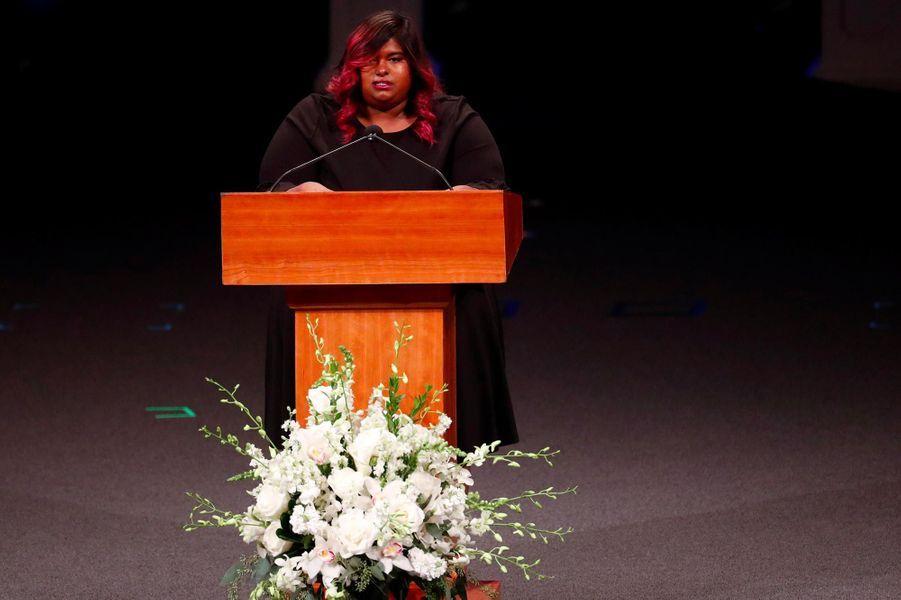 Bridget McCain à l'hommage rendu à son père John McCain à Phoenix, le 30 août 2018.
