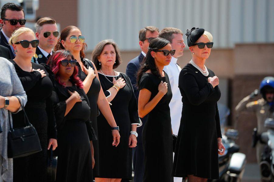 La famille de John McCain, le 30 août 2018.